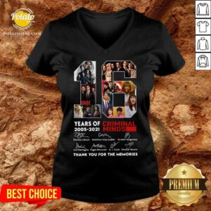 16 Years Of 2005 2021 Criminal Minds Thank You For The Memories Signatures V-neck