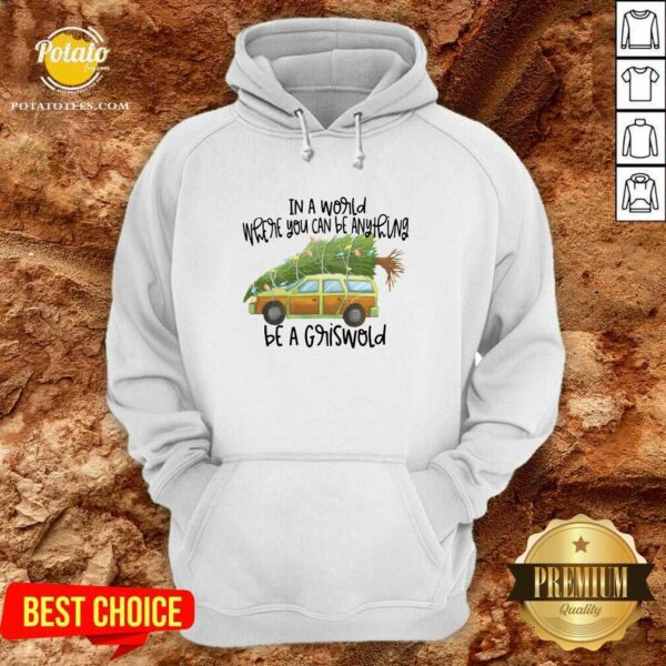 Perfect In A World Where You Can Be Anything Be A Griswold Hoodie- Design By Potatotees.com