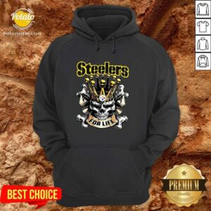Perfect Skull Pittsburgh Steelers For Life Hoodie- Design By Potatotees.com