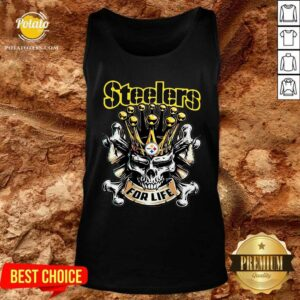 Perfect Skull Pittsburgh Steelers For Life Tank Top- Design By Potatotees.com