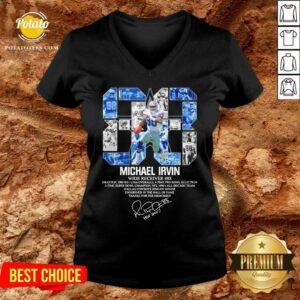 88 Michael Irvin Wide Receiver 88 Thanks For The Memories Signature V-neck