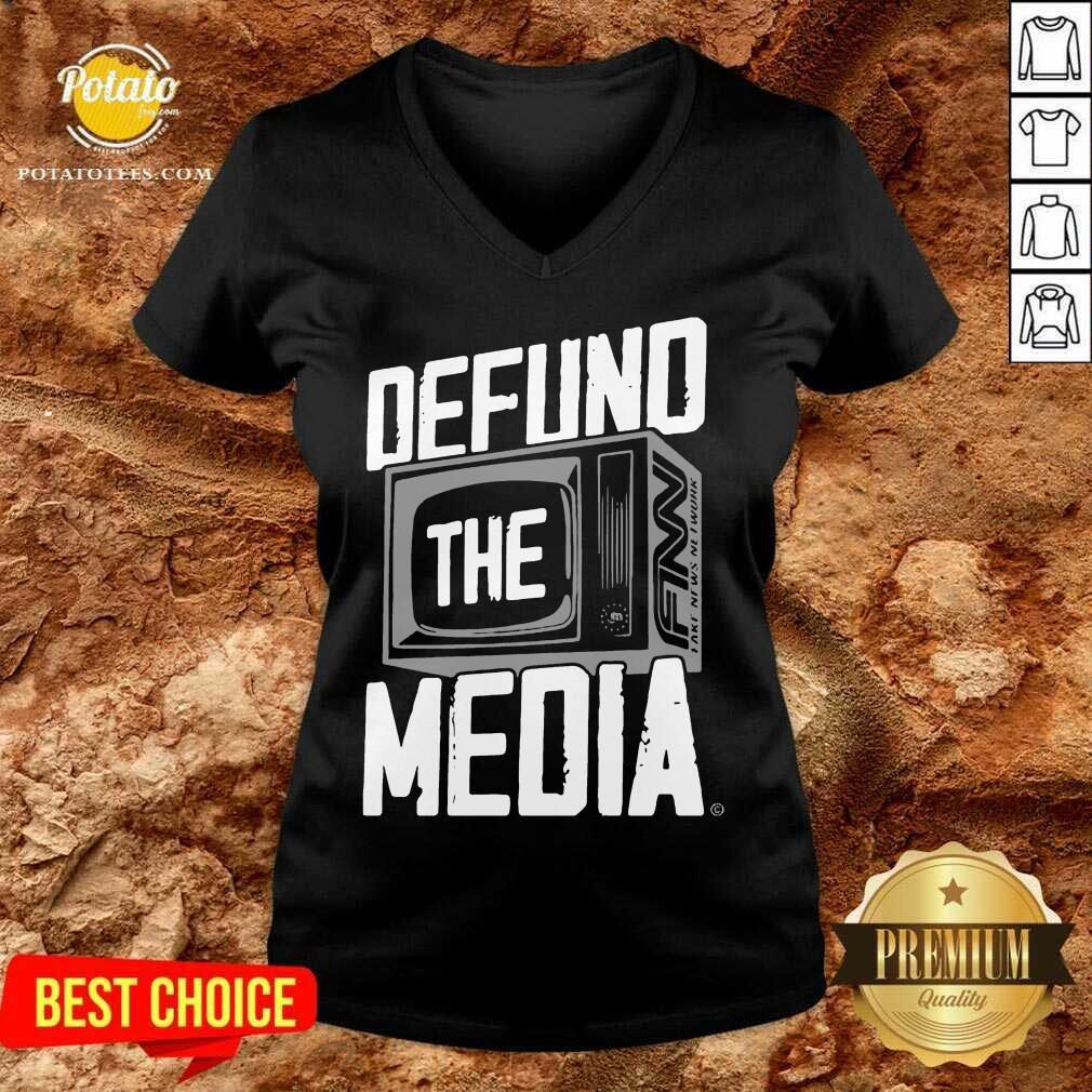Defund The Media V-neck