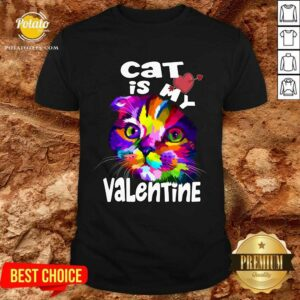 My Cat Is My Valentine Kitten Lover Valentine's Day 2021Gif Shirt