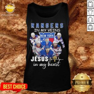 New York Rangers In My Veins Jesus In My Heart Tank-Top