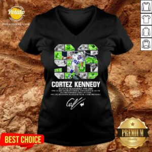 96 Cortez Kennedy Seattle Seahawks 1990 2000 Signature V-neck