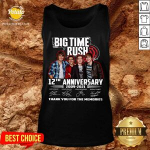 Big Time Rush 12th Anniversary 2009 2021 Thank You For The Memories Signatures Tank-Top