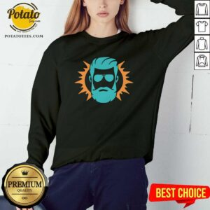 Miami Dolphins Ryan Fitzpatrick Face Sweatshirt - Design By Potatotees.com