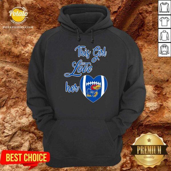 This Girl Love Hear Heart Kansas Jayhawks Football Shirt - Design By Potatotees.com