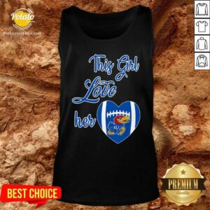 This Girl Love Hear Heart Kansas Jayhawks Football Tank-Top - Design By Potatotees.com