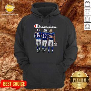 Buffalo Bills Diggs Allen Beasley Champion Signature Hoodie- Design By Potatotees.com