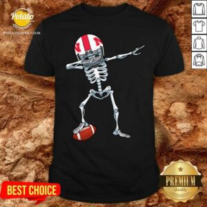 Skeleton Dabbing Nebraska Cornhuskers Shirt - Design by Potatotees.com