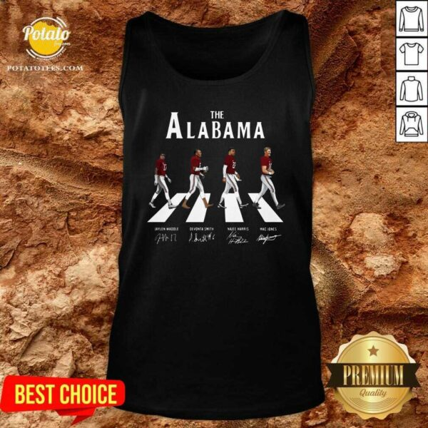 The Alabama Abbey Road Signatures Tank-Top - Design By Potatotees.com