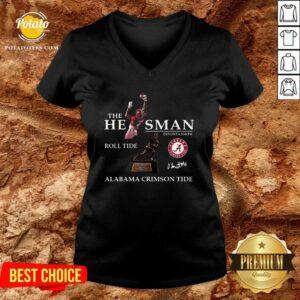 The He Man Devonta Smith Roll Tide Alabama Crimson Tide Signature V-neck - Design By Potatotees.com