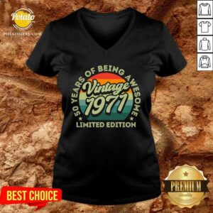 50 Years Of Being Awesome Limited Edition 1971 Vintage V-neck