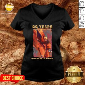 Naruto 22 Years 1999 2021 Thank You For The Memories V-neck