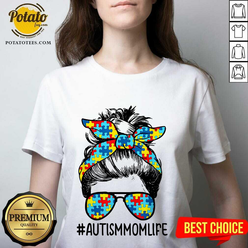Nice Autism Mom Life Sunglasses Bandana Mother Day V-neck