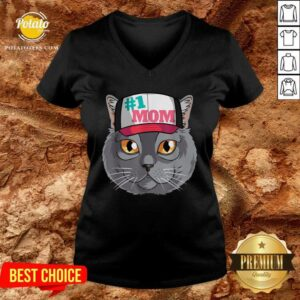 Chartreux Cat #1 Mom Mother's Day V-neck