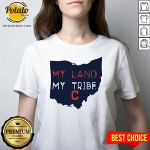 My Land My Tribe Cleveland Indians V-neck