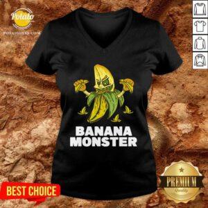 Banana Monster Jokers V-neck