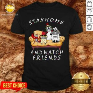 Pretty Pets Stay Home And Watch Friends Cartoon COVID-19 Shirt