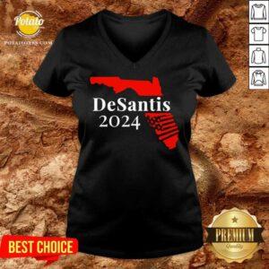 Nice American Florida Desantis 2024 V-neck
