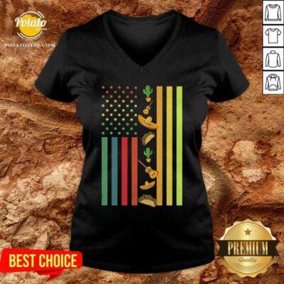 American Flag Easter V-neck- Design By Potatotees.com