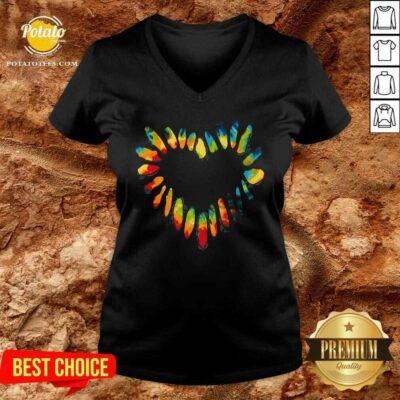 Hippie Heart V-neck- Design By Potatotees.com