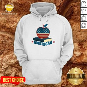 American Apple And Book 4th Of July Hoodie- Design By Potatotees.com