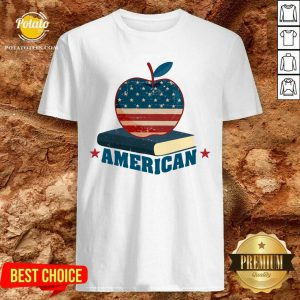 American Apple And Book 4th Of July Shirt- Design By Potatotees.com