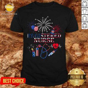 Registered Nurse Stethoscope Needle American Shirt- Design By Potatotees.com
