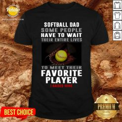 Softball Dad Some People Have To Wait Their Entire Lives To Meet Their Favorite Player Shirt- Design By Potatotees.com