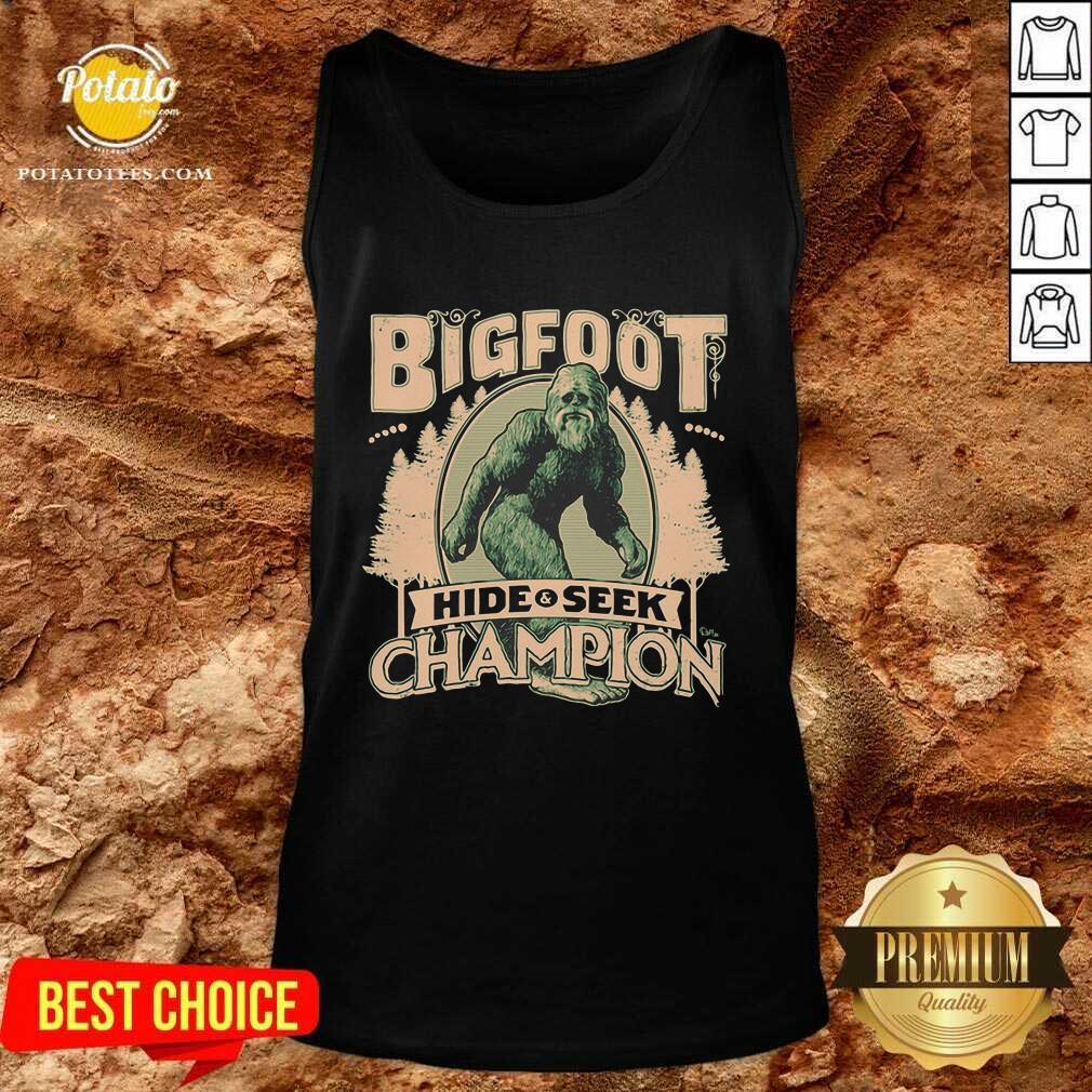 Bigfoot Hide And Seek Champion Tank Top