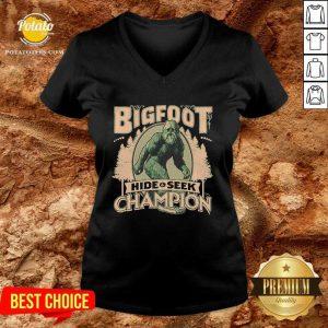 Bigfoot Hide And Seek Champion V-neck