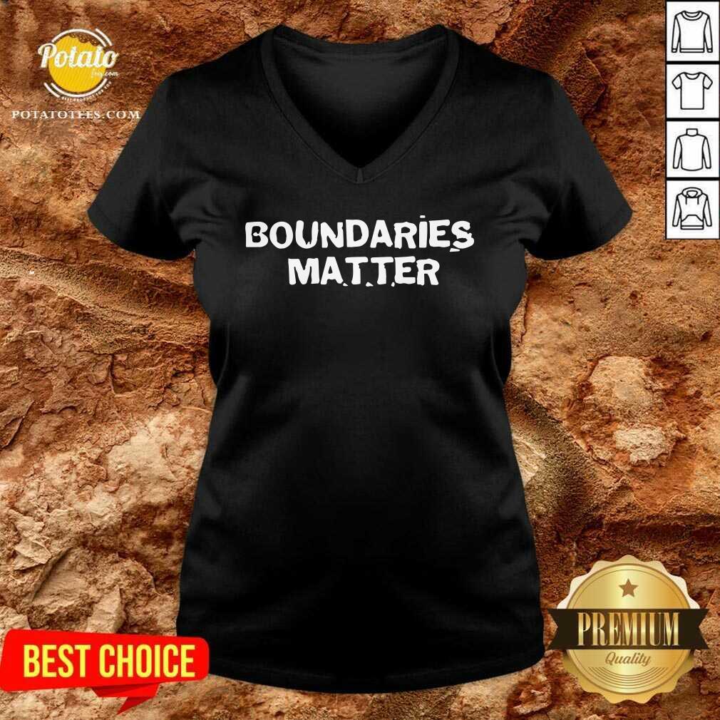 Funny Boundaries Matter V-neck
