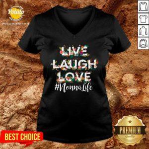 Hot Nonna Live Laugh Love V-neck