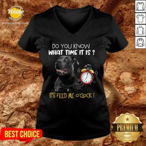 Pitbull Do You Know What Time It Is It's Feed Me O'clock V-neck