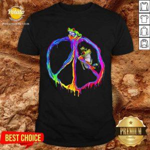 Premium Frog Peace Color Shirt