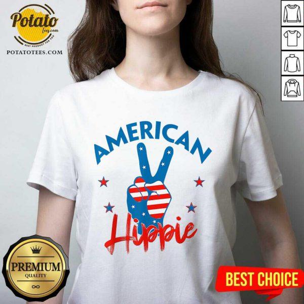 Pretty American Hippie V-neck