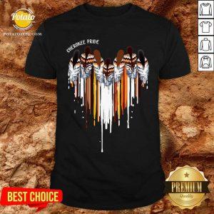 Pretty Cherokee Pride Heart Shirt
