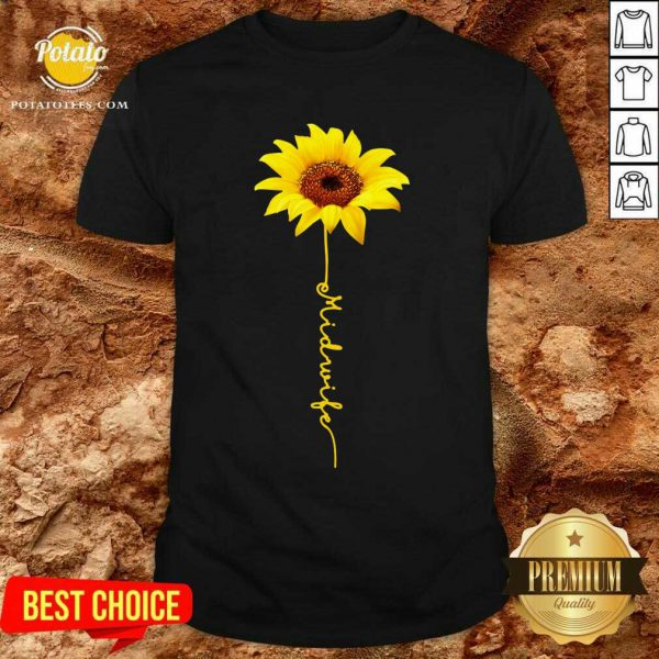Pretty Midwife Sunflower Shirt