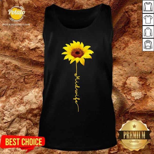 Pretty Midwife Sunflower Tank Top