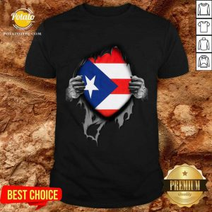 Super Puerto Rican Heritage Puerto Rico Roots USA Flag Shirt